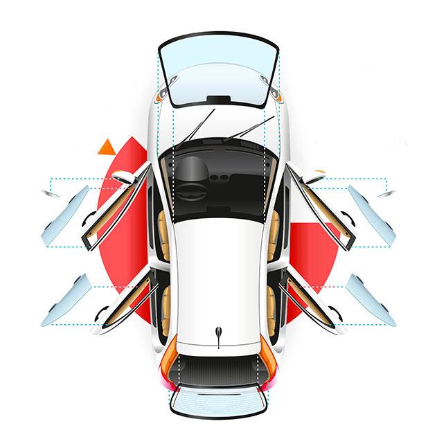Автомобильное стекло по типу